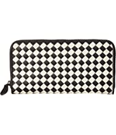 Bottega Veneta - Intrecciato Check Zip Around Wallet