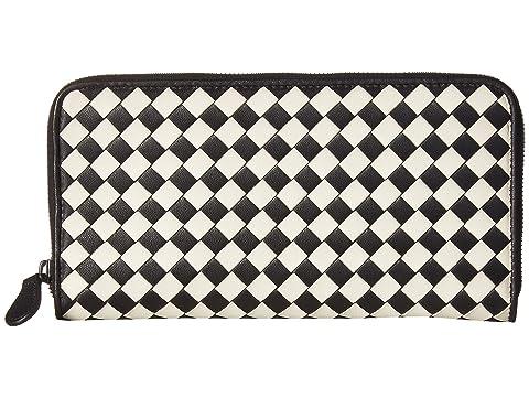Bottega Veneta Intrecciato Check Zip Around Wallet