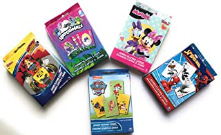 Spiderman Paw Patrol Hatchimals Mickey Minnie Frozen Assorted Jumbo Playing Cards. Play Go Fish, Crazy 8s, Rumi & More Oversized Kids Card Deck 2 Pack.