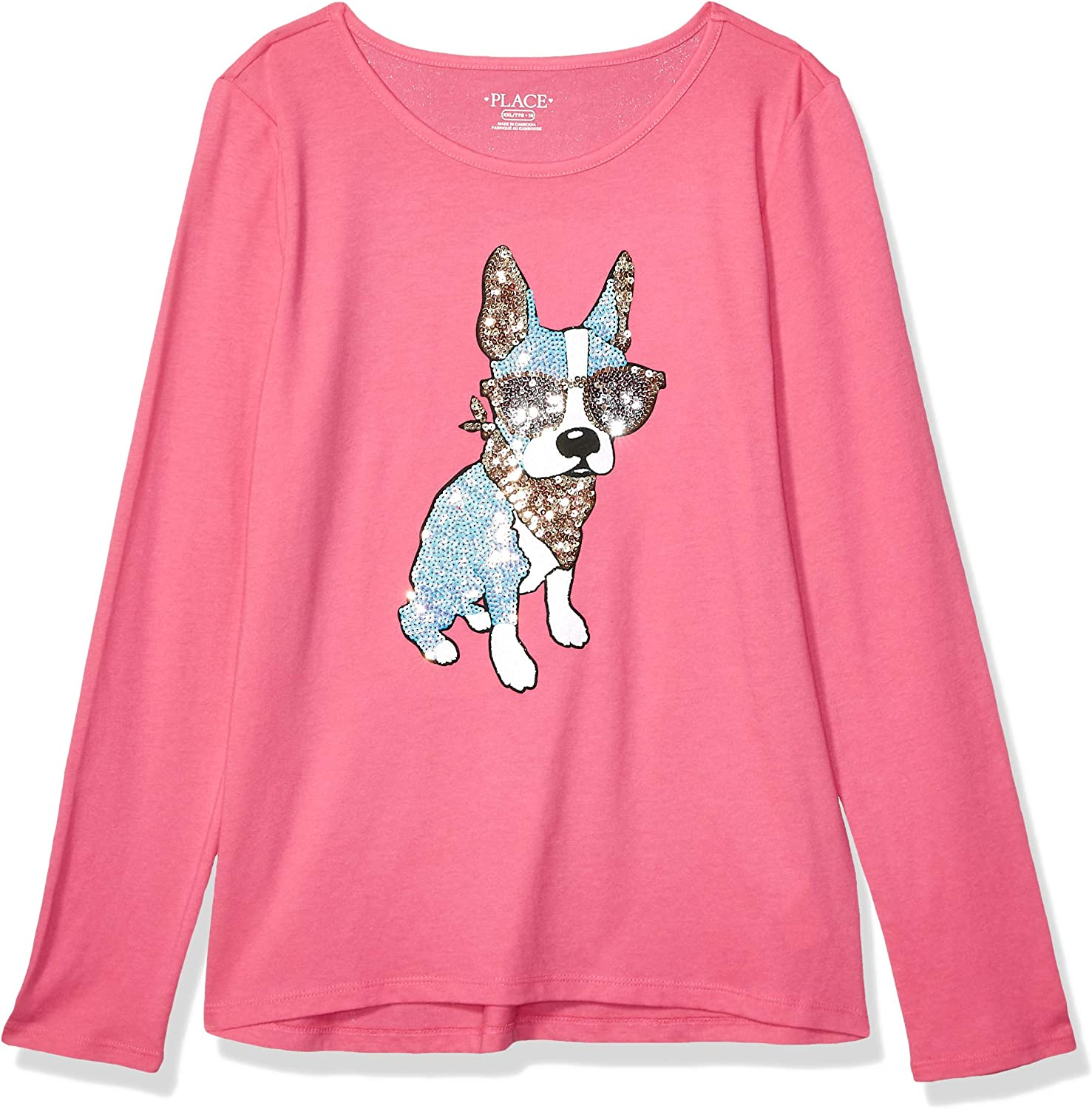 The Children's Place Girls' Big Long Sleeve Graphic Shirt
