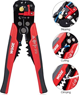 WGGE WG-014 Self-Adjusting Insulation Wire Stripper. For stripping wire from AWG 10-24, Automatic Wire Stripping Tool/Cutting Pliers Tool, Automatic Strippers with Cutters & Crimper 8