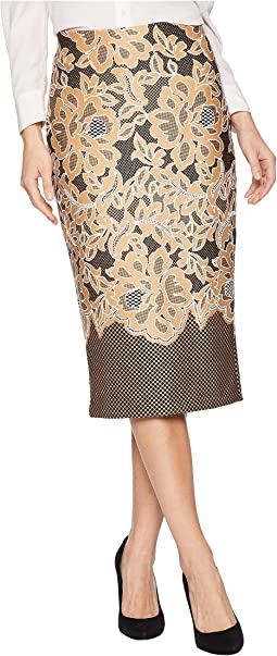 Puff Printed On Scuba Skirt