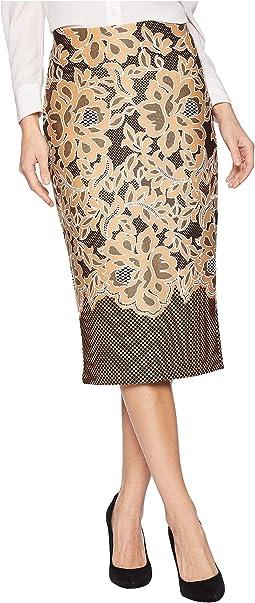Puff Printed On Scuba Skirt