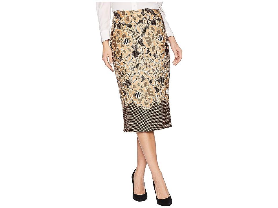 eci Puff Printed On Scuba Skirt (Black/Tan) Women