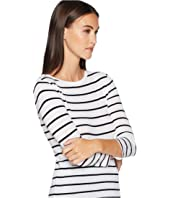 Vince - Classic Stripe Elbow Sleeve Crew