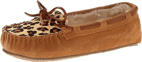 Minnetonka Women's Leopard Cally Slipper Moccasin