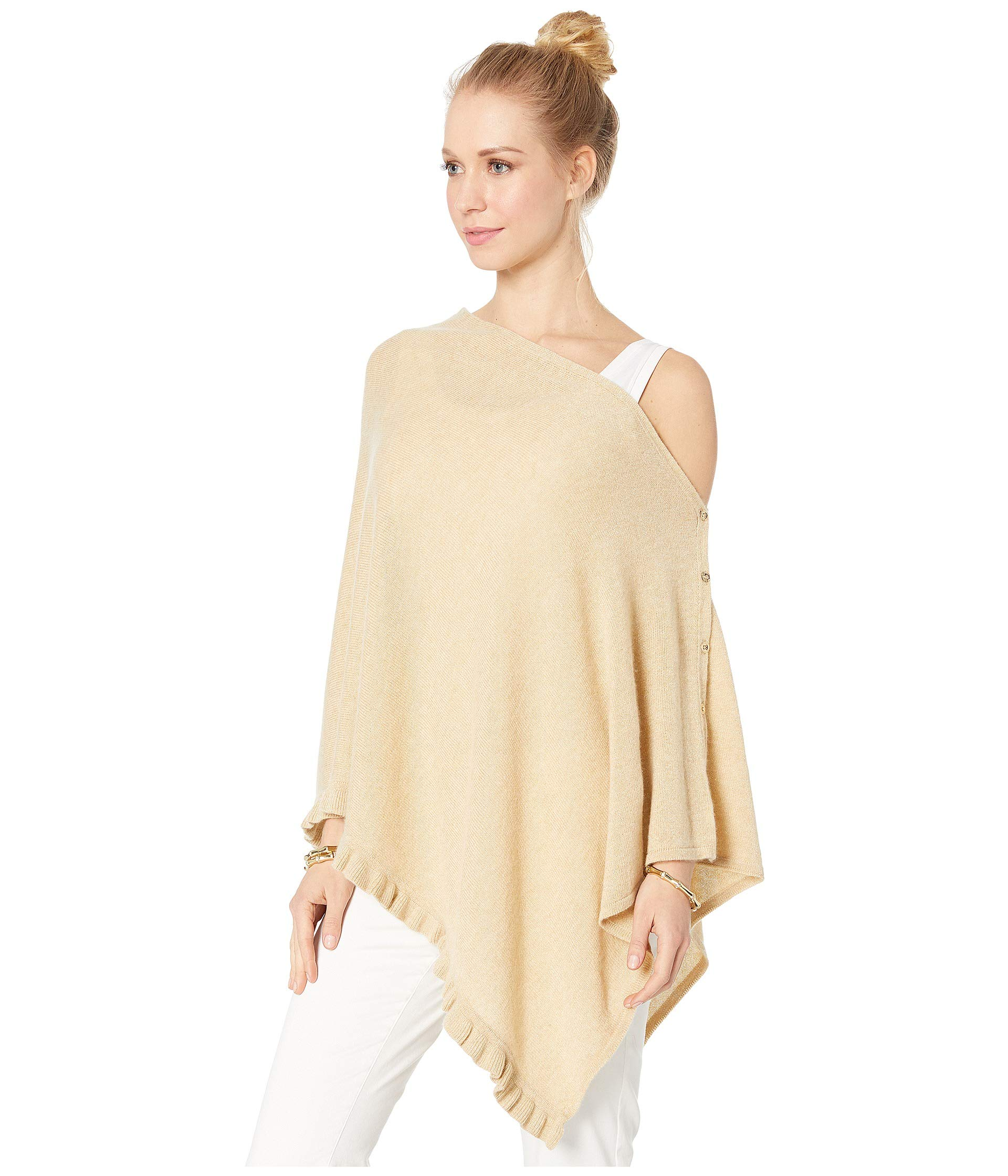 Lilly Cashmere Metallic Heathered Pulitzer Sand Bar Wrap Ruffle Harp rzrqC