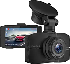 "Campark Dash Cam 1080P Full HD DVR Dashboard Camera Video for Cars in-Visor with 3"" IPS Screen Super Night Vision 170° Wide Angle G-Sensor Loop Recording and Parking Monitor"