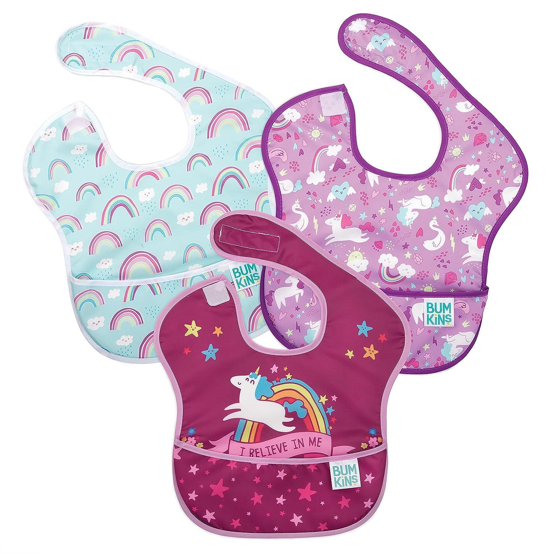 Bumkins SuperBib Baby Bib Waterproof Fabric Ba Max 76% OFF New Free Shipping Fits Washable