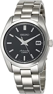 Men's Japanese-Automatic Watch with Stainless-Steel Strap, Silver, 20 (Model: SARB033)