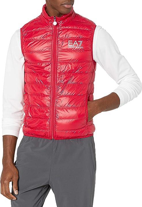 Gilet emporio armani ea7 core logo zip down vest black 8NPQ01PN29Z1451