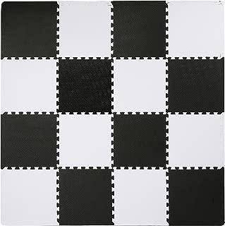 black and white foam floor mats