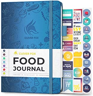 Clever Fox Food Journal - Daily Food Diary, Meal Planner to Track Calorie and Nutrient Intake, Stick to a Healthy Diet & A...