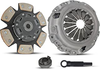Clutch Kit works with Chrysler Sebring Dodge Stratus Mitsubishi Eclipse Lx Spyder 1990-2005 2.4L L4 GAS SOHC Naturally Aspirated (Select Engineered Flywheel Spec: -0.61; 6-Puck Disc Stage 2)