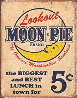Desperate Enterprises Moon Pie - Best Lunch Tin Sign, 12.5