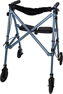 Able Life Space Saver Rollator, Lightweight Folding Mobility Rolling Walker for Seniors and Adults, 6-inch Wheels, Locking...