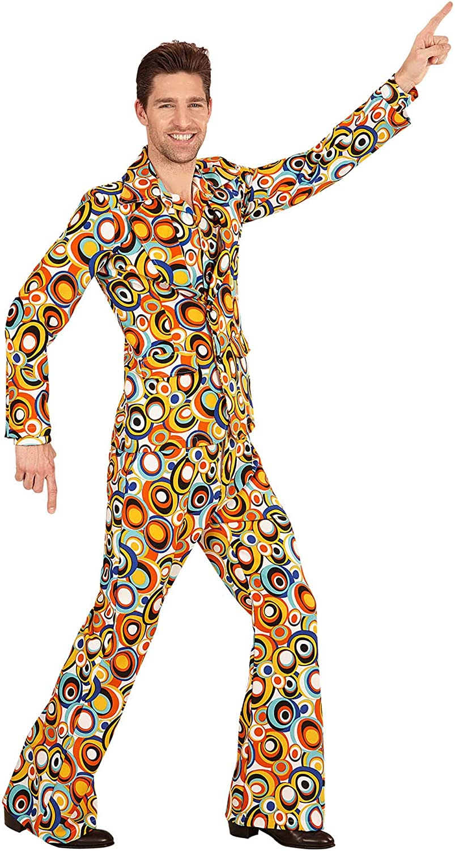 WIDMANN Disfraz de adultos traje de los a/ños 70