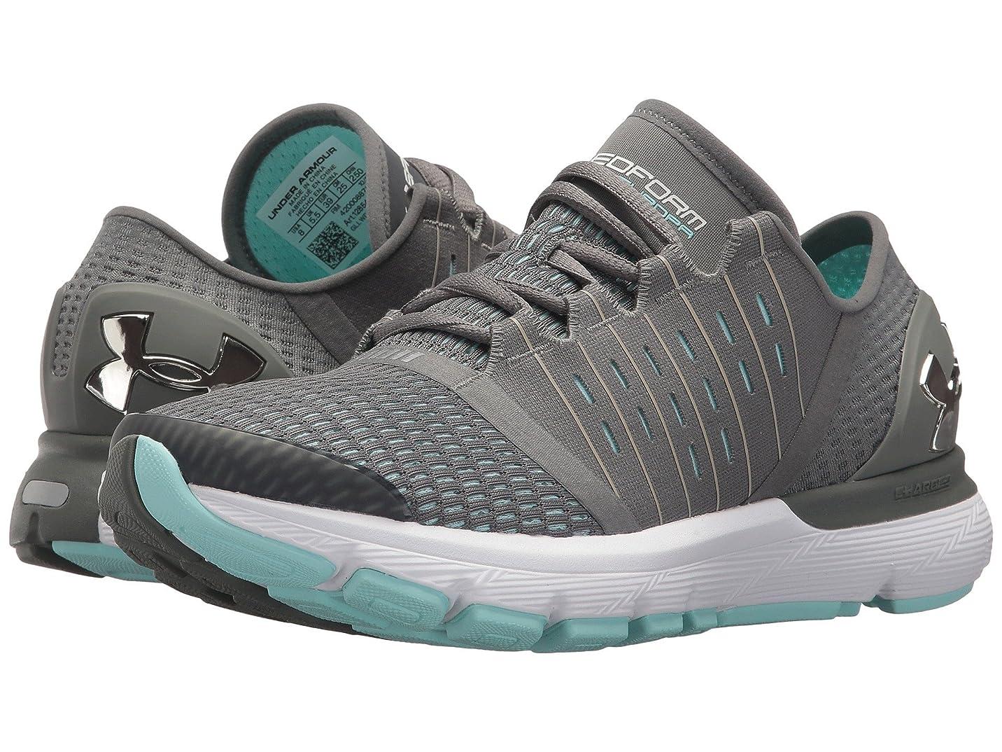 文維持ぼかす(アンダーアーマー) UNDER ARMOUR レディースランニングシューズ?スニーカー?靴 UA Speedform Europa Clay Green/Tile Blue/Metallic 7.5 (24.5cm) B - Medium