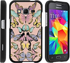 MINITURTLE Case Compatible w/ Samsung Core Prime Case, Armor Snap On Hard Case Protector Cover w/ Customized Design for Samsung Galaxy Core Prime G360 (Boost Mobile) Butterfly Symmetry