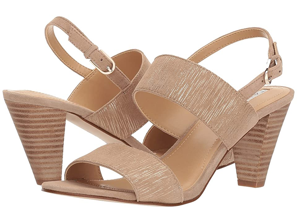 Tahari Easy (Driftwood Striped Suede) High Heels