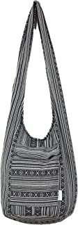 Sasahune Hippie Crossbody Bag  Large capacity  Good design Thai Top Zip Hobo Sling Bag Handmade Hipster Messenger Bag
