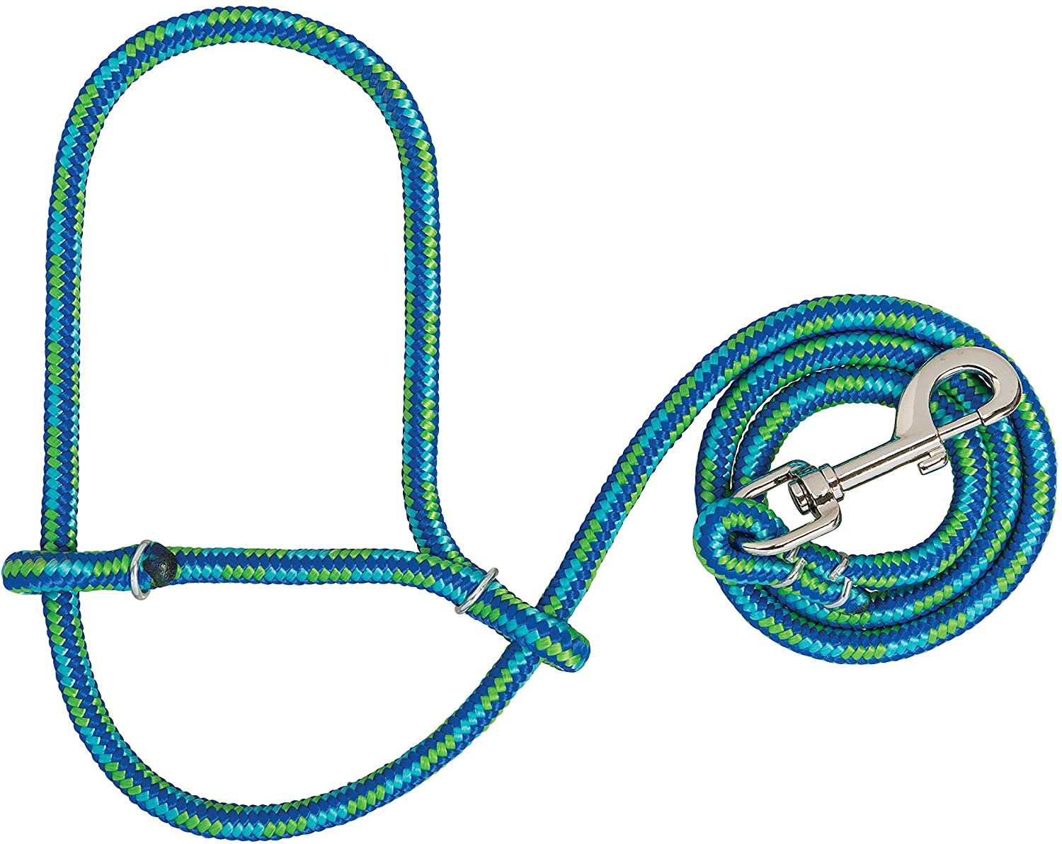 Weaver Ranking TOP4 Leather Max 58% OFF Poly Rope Sheep Lime Blue Halter with Snap