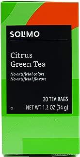 Amazon Brand - Solimo Citrus Green Tea Bags, 20 Count