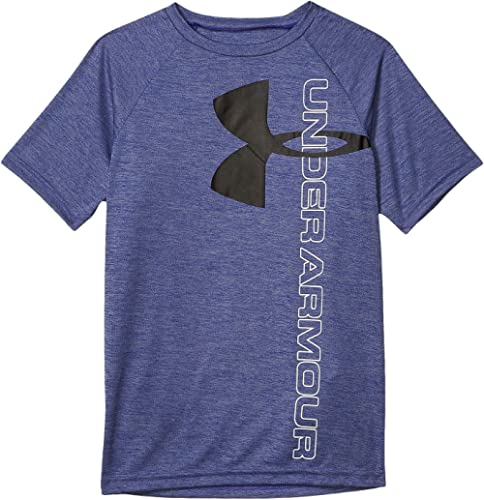 Under Armour Boys' Tech Split Logo Hybrid T-Shirt
