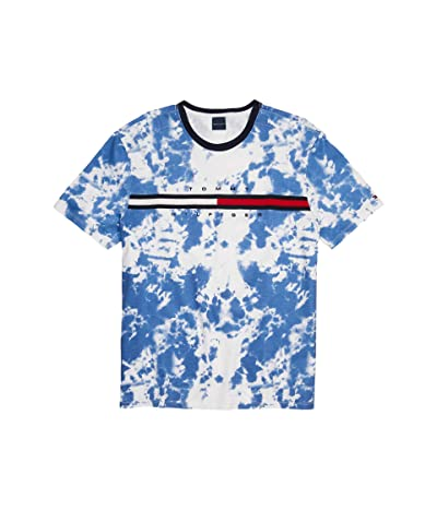 Tommy Hilfiger Adaptive Tino Tee with Magnetic Buttons at Shoulders (Bright White) Men
