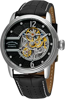 Stuhrling Original Men's 308A.33151 Prospero Classic Automatic Skeleton Black Dial Watch