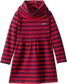 Striped Cowl Neck Dress (Toddler/Little Kids/Big Kids)