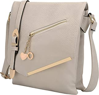 MKF Crossbody Bag for Women – Shoulder Strap – PU Leather Handbag Pocketbook, Ladies Medium Side Messenger Purse