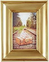 مجموعة إطارات الصور الخشبية بنمط قديم مستوحاة من مزرعة الريفية من DII ، مقاس 10.16 سم × 15.24 سم، فرك ذهبي عتيق