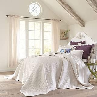 BrylaneHome Florence Oversized Bedspread - Ecru, King