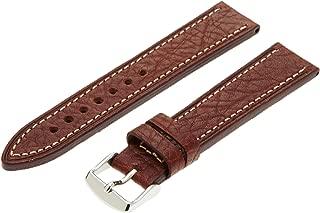 Hadley-Roma Men's MSM894RA-180 18-mm Black Genuine Leather Watch Strap