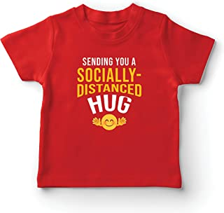 lepni.me Kids T-Shirt Social Distancing Emoji Hug Stay at Home Emoticon Quarantine