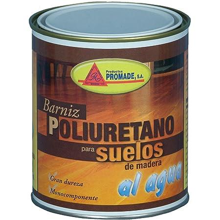 Promade- Barniz para Suelos de Madera y Parquet - Poliuretano Monocomponente al Agua Semi Brillo - 750 ML
