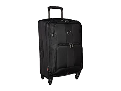 Delsey Sky Max Expandable Spinner Carry-On (Black) Luggage