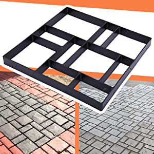 LODOCAVE Concrete Molds,Rectangle DIY Concrete molds and Forms,Courtyard,molds for walkways,Courtyard, Terrace,Garden Stepping Stone kit,Patio Flooring,Patio pavers,Outdoor Flooring.