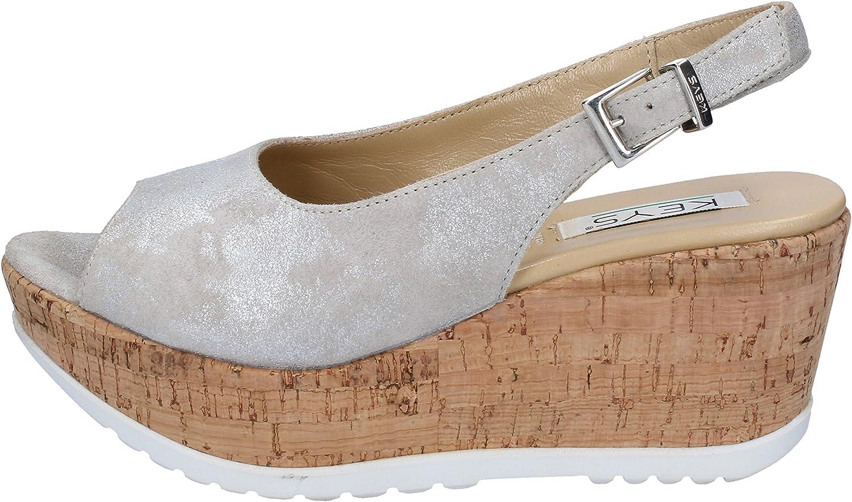 KEYS Sandals Womens Suede Beige