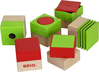 Brio 30436 Sensory Blocks   6 Piece Preschool Toy for Kids Ages 18 Months and Up