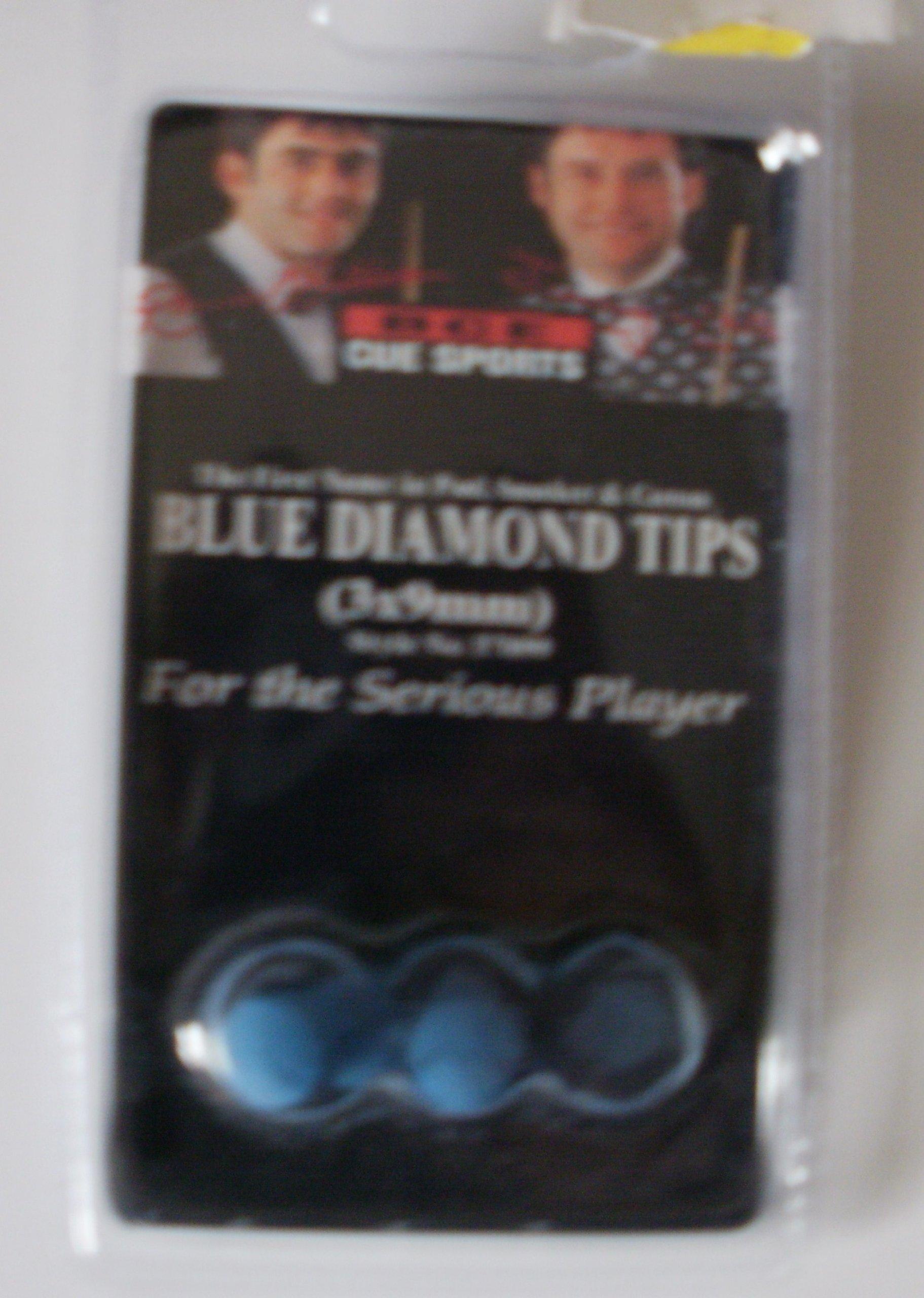 Puntas de Taco de Billar de Diamante Azul 3 Unidades en 9 mm ...