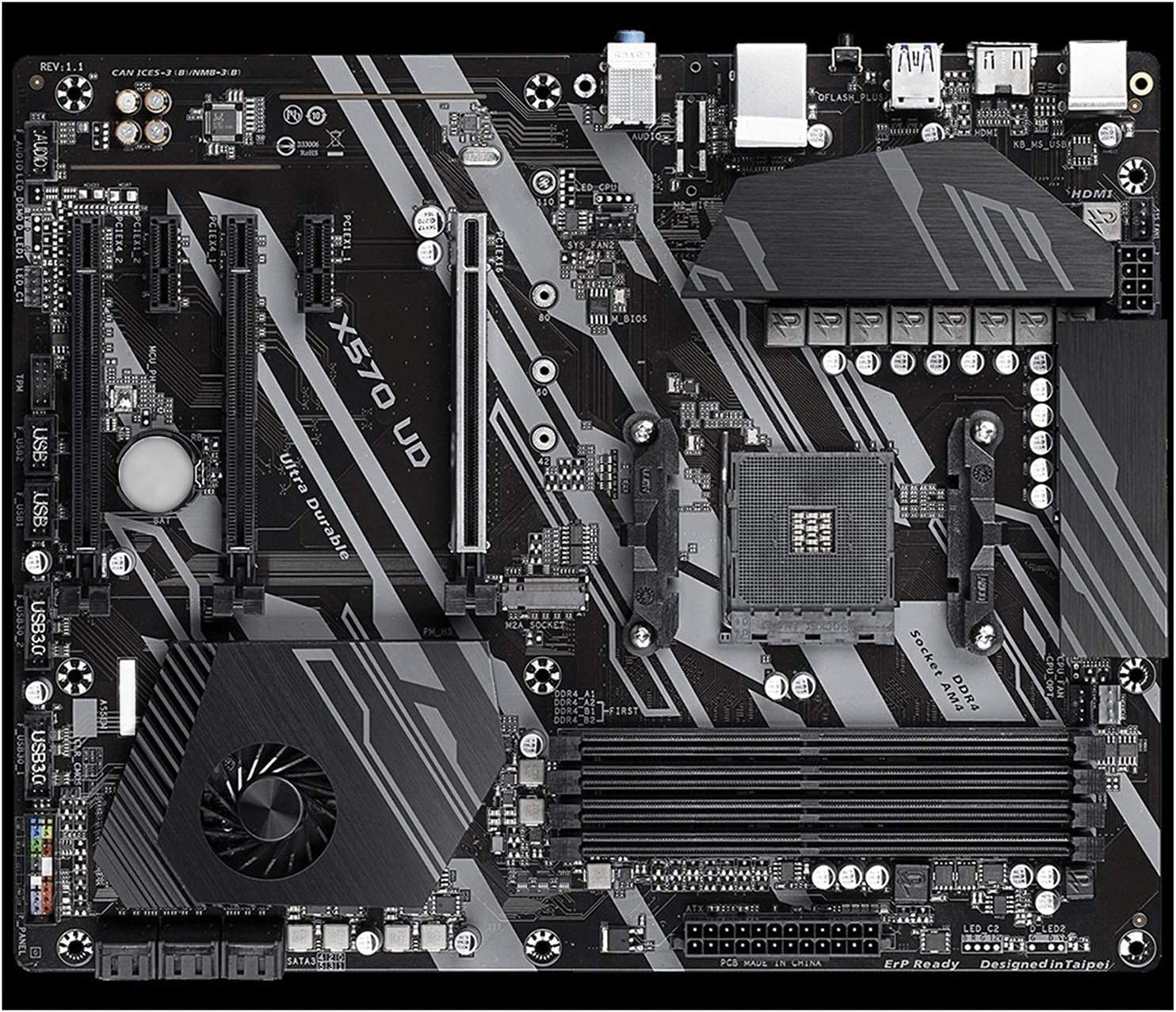 lilili Milwaukee Mall Fit for GIGABYTE Original Socket Mo AM4 UD Recommendation Mainboard X570