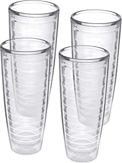 4-pack Insulated 26 Ounce Tumblers - BPA-Free - Made in USA - Clear (26oz Insulated Cups)