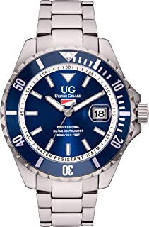 Mens - Stainless Steel Sport Diver Watch Water Resistant to 330 Ft. - Matching Color Dial and Bezel - Quartz Movement
