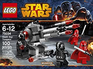 LEGO Star Wars 75034 Death Star Troopers 100 pieces Includes 4 Minifigures With Weapons: 2 Imperial Royal Guards And 2 Death Star Gunners Order Now! With E-book Gift@