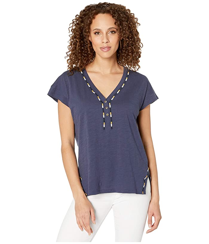 Caftan Knit Tee (Indigo) Women's Clothing