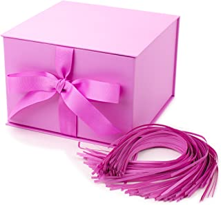 "Hallmark 7"" Gift Box (Light Pink) for Mother's Day, Birthdays, Bridal Showers, Weddings, Baby Showers, Bridesmaids Gifts, Valentines Day and More"