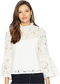 Wild Heart Floral Lace Bell Sleeve Top