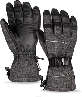 Unigear Ski Gloves, Waterproof Thinsulate Winter Warm Snowboard Snow Touchscreen Gloves for Men & Women